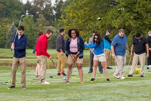 Students at Golf Course