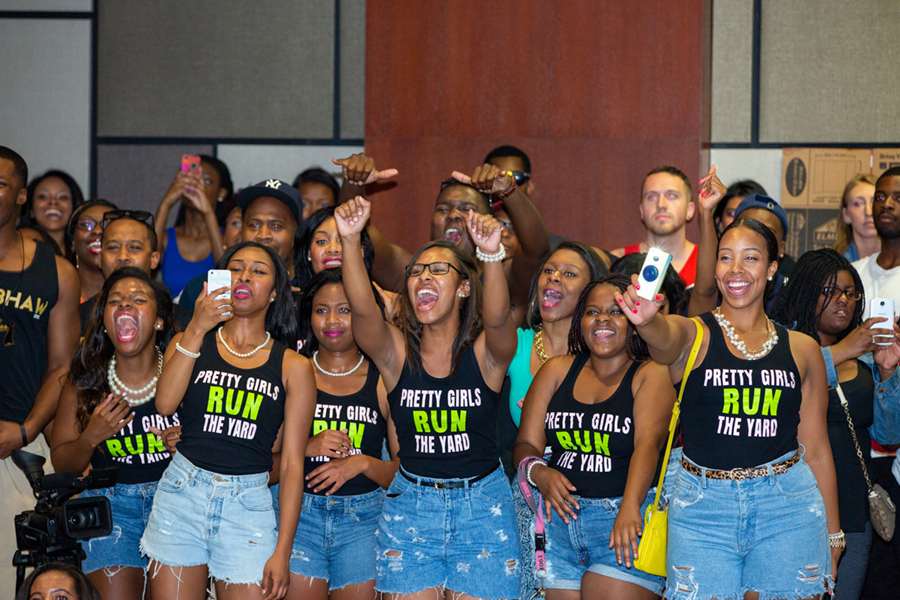A group of Greek Life members in the NPHC