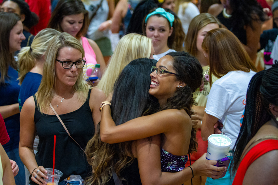 PHA sorority members hugging