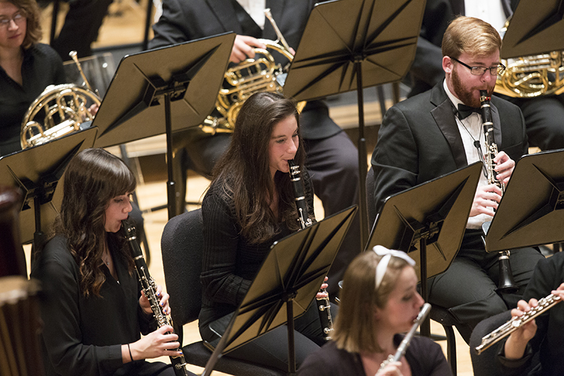 clarinet players performing at sursa performance hall