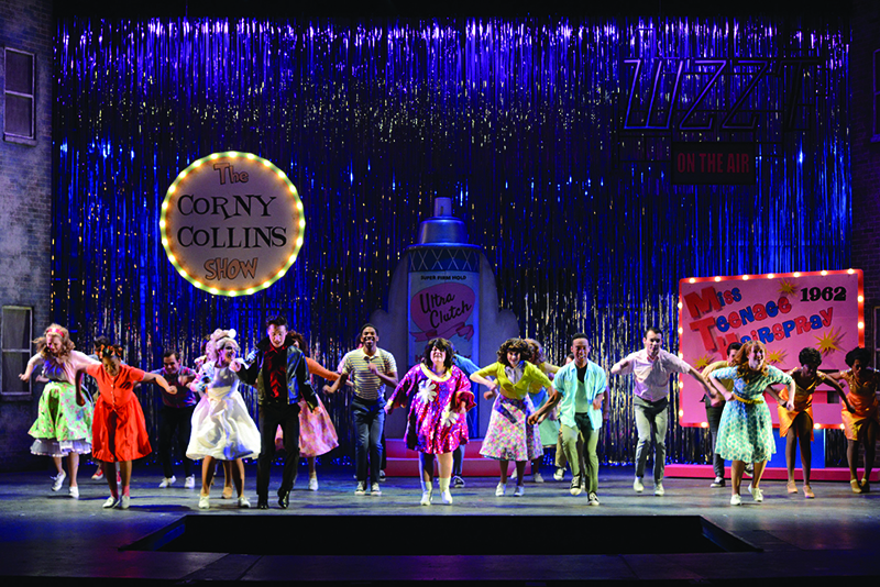 students perform Hairspray on stage