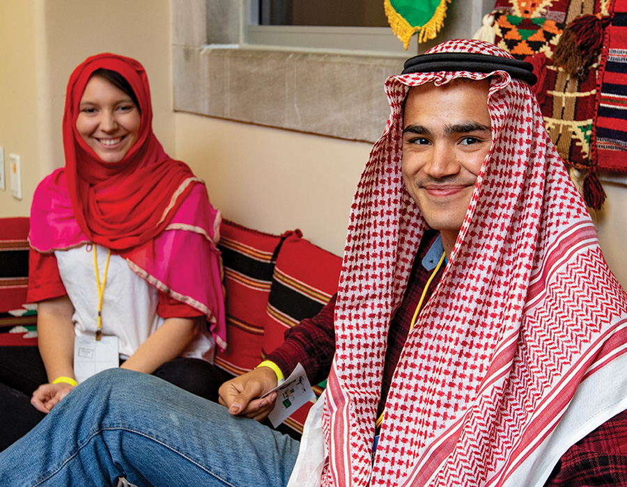 Multicultural students smiling