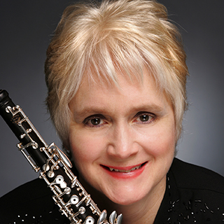 Sherry Sylar with her oboe