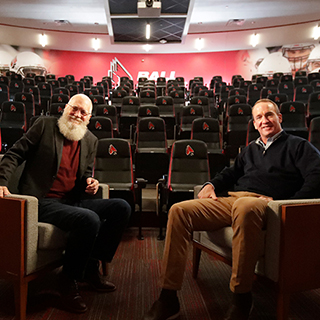 David Letterman and Peyton Manning