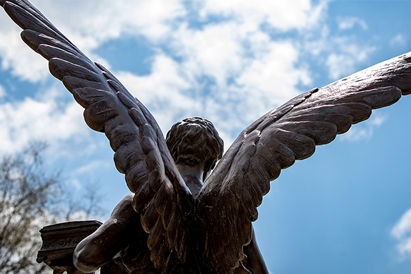 Beneficence against a beautiful sky